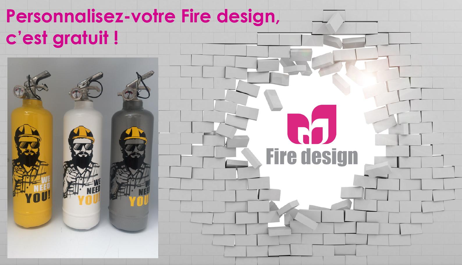 Personnalisation gratuite de votre extincteur fire design
