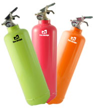 Colored fire extinguisher