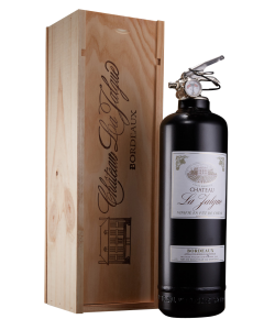 Fire extinguisher design wine in wood box black