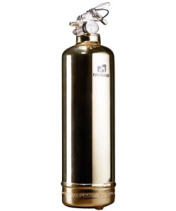 Fire extinguisher design gold