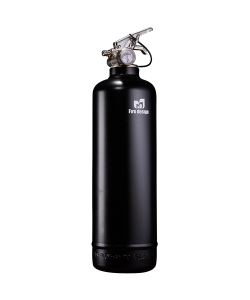 Fire extinguisher design black