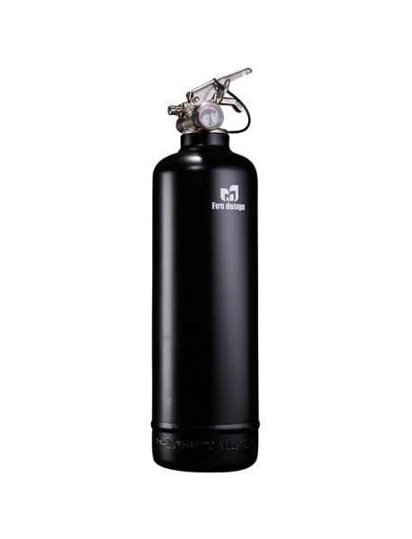 fire extinguisher design plain black