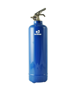 Fire extinguisher design blue