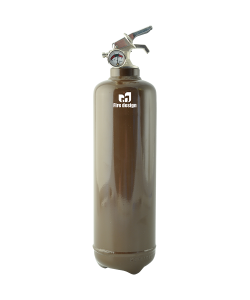 Fire extinguisher design brown
