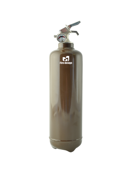Fire extinguisher design plain brown