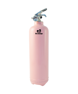 Fire extinguisher design plain light pink