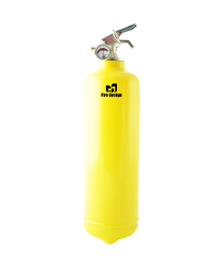 Fire extinguisher design yellow