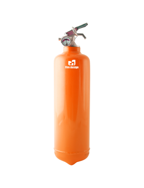 Fire extinguisher design orange