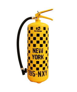 Extincteur design 6kg poudre ABC Rallye NY