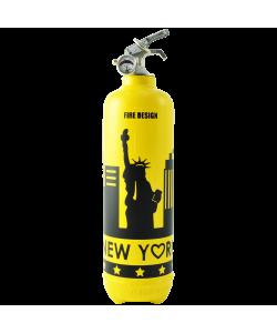 Estintore design States giallo nero