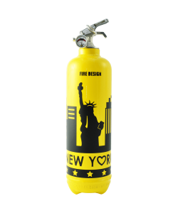 Fire extinguisher design States yellow