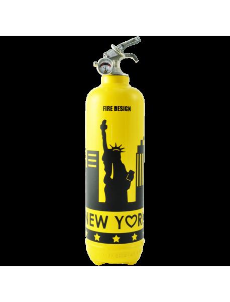 Extincteur design states jaune noir