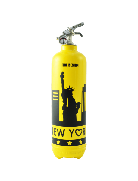 Fire extinguisher design States yellow black