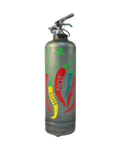 Fire extinguisher design Dominique Vari Piments raw
