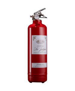 Fire extinguisher design wine red