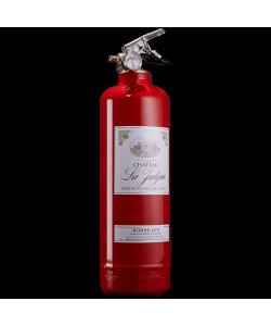 Fire extinguisher design wine red