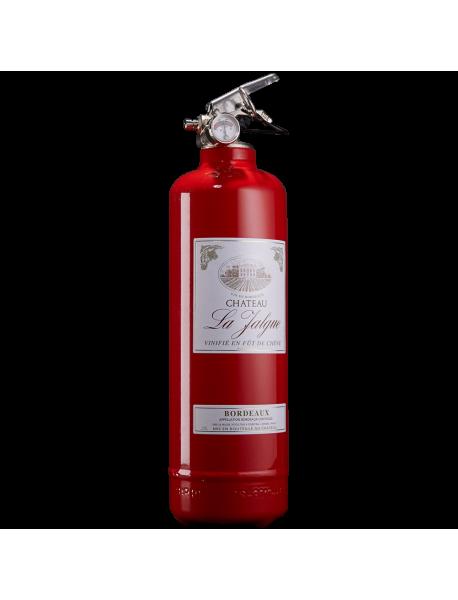 extincteur design deco Vin rouge vintage