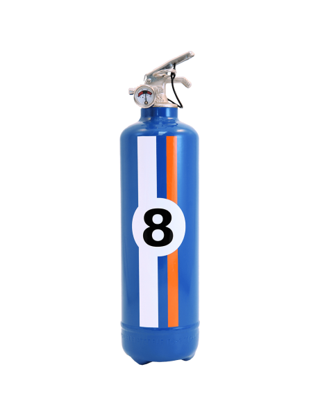 Fire extinguisher design auto E2R Charly Hill blue
