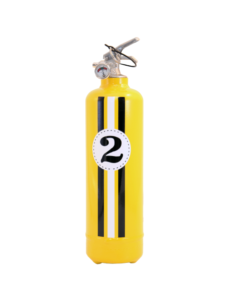 Fire extinguisher design auto E2R Fangio yellow