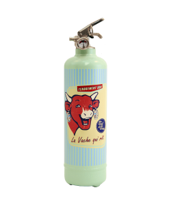 Fire extinguisher design Laughing Cow Tendrement light Green