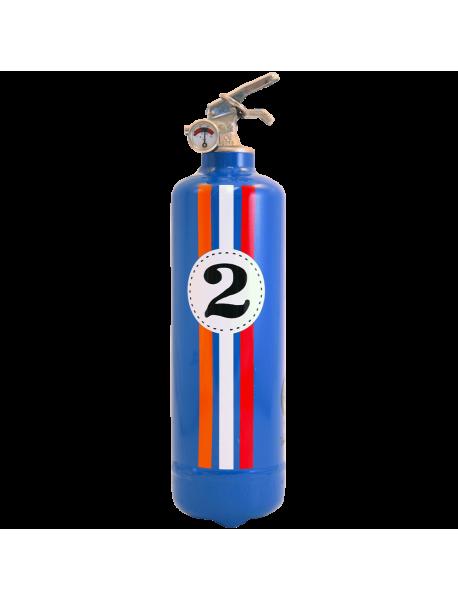 Extincteur design auto Fangio bleu