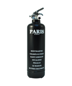 Fire extinguisher design City Paris black white