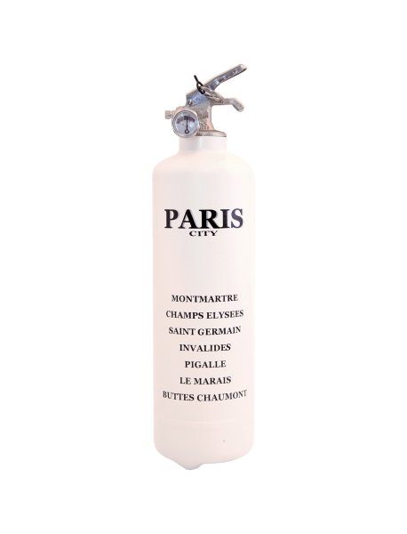 Extincteur design City Paris blanc noir