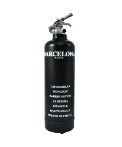 Fire extinguisher design City Barcelona black