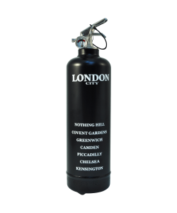 Fire extinguisher design City London black