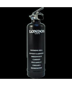 Fire extinguisher design City London black