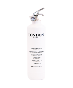 Fire extinguisher design City London white