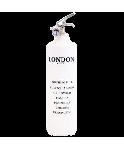 Fire extinguisher design City London white