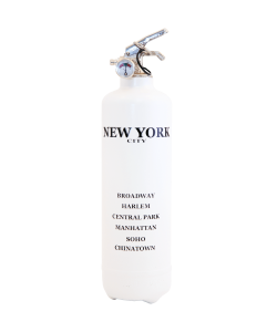 Fire extinguisher design City New York white