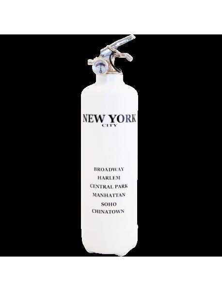 estintore design City New York bianco