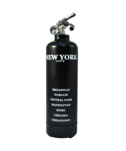 Fire extinguisher design City New York black