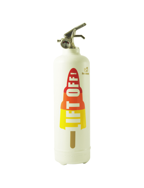 Fire extinguisher design DV lift off white