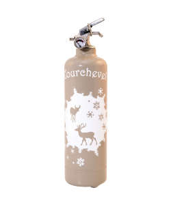 Fire extinguisher design Parischéri Cerfs et Flocons light brown