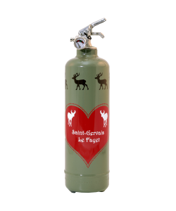 Fire extinguisher design Parischéri Amour de Cerfs khaki