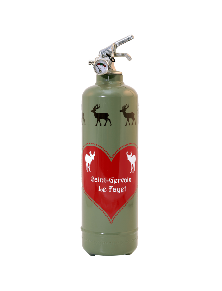 Fire extinguisher design PC Amour de Cerfs khaki