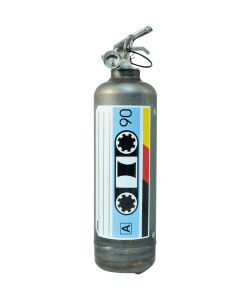Fire extinguisher design AKLH Audiotape vintage