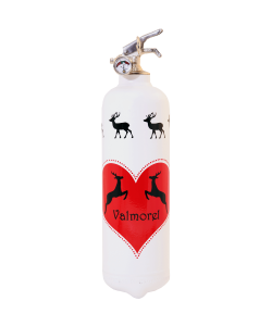 Fire extinguisher design Parischéri Cerfs cabrés white