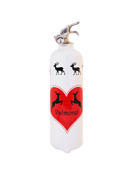 Fire extinguisher design PC Cerfs Cabre white