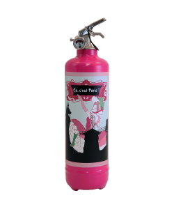 Fire extinguisher design PC C'est Paris pink