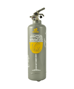 Fire extinguisher design DV white wine grey
