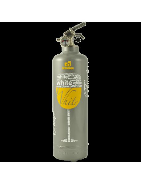 Fire extinguisher design DV white wine grey