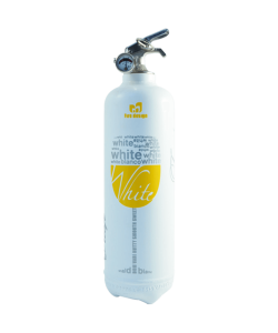 Fire extinguisher design White Wine white