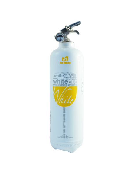 extincteur design DV White Wine blanc