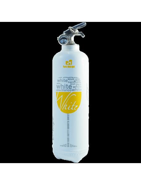 Fire extinguisher design White Wine white