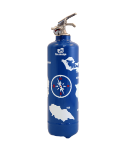 Fire extinguisher design Atlantic blue