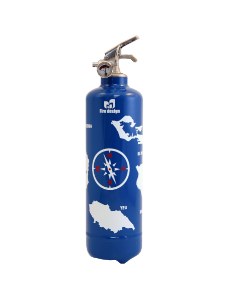 Fire extinguisher design Atlantic blue